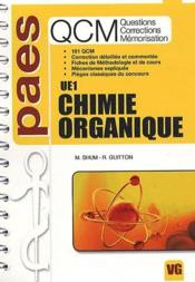 Chimie organique ; UE1 ; QCM paes  - M. Shum - R. Guitton