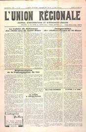 Union Regionale (L') N°1155 du 19/10/1940 - Couverture - Format classique