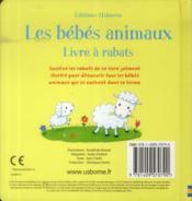 Les bébés animaux ; livre à rabats - 4ème de couverture - Format classique