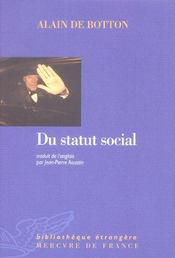 Du Statut Social - Intérieur - Format classique