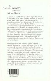 La grande ronde autour du Mont-Blanc - 4ème de couverture - Format classique