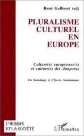 Pluralisme culturel en Europe ; culture(s) européenne(s) et culture(s) des diasporas ; en hommage à Ulysses Santamaria - Couverture - Format classique