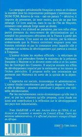 Mayotte, l'illusion de la france ; propositions pour une décolonisation - 4ème de couverture - Format classique