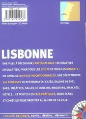 Collection Cartoville Gallimard. Lisbonne. - 4ème de couverture - Format classique