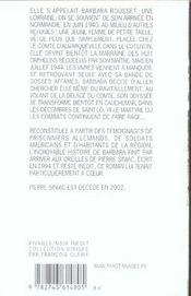 La Course Du Hanneton Dans Une Ville Detruite - 4ème de couverture - Format classique