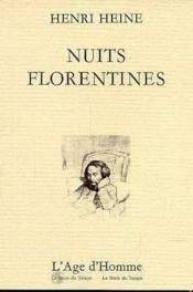 Nuits Florentines - Couverture - Format classique