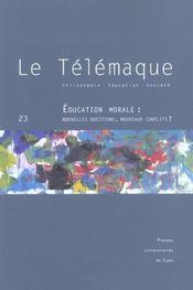 Revue Le Telemaque T.23 ; Education, Morale ; Nouvelles Questions, Nouveaux Conflits - Intérieur - Format classique