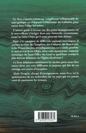 Histoires secretes du graal - 4ème de couverture - Format classique