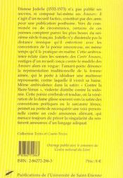 Les Amours De Jodelle - 4ème de couverture - Format classique
