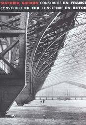 Construire En France En Fer En Beton - Intérieur - Format classique