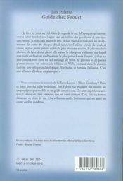 Guide chez proust - 4ème de couverture - Format classique