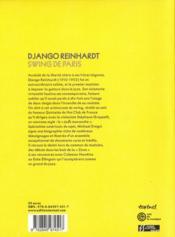 Django Reinhardt ; swing de Paris - 4ème de couverture - Format classique