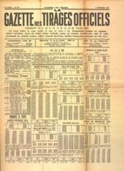 Gazette Des Tirages Officiels (La) N°871 du 02/12/1939 - Couverture - Format classique