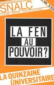 La Quinzaine Universitaire N°868 - La Fen Au Pouvoir ? - Couverture - Format classique