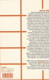 Design et crime - 4ème de couverture - Format classique