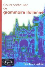 Cours Particulier De Grammaire Italienne - Intérieur - Format classique