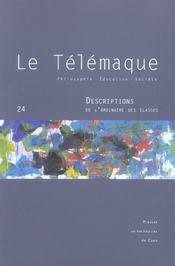 Revue Le Telemaque T.24 ; Descriptions De L'Ordinaire Des Classes - Intérieur - Format classique