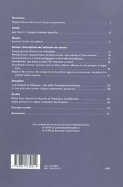 Descriptions de l'ordinaire des classes - 4ème de couverture - Format classique