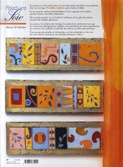 Peinture sur soie ; décors d'intérieur ; 19 modèles originaux - 4ème de couverture - Format classique