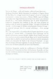 Paysages Devastes - Le Theatre Et Le Sens De L'Humain - 4ème de couverture - Format classique