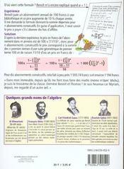 Les mathématiques ; l'algèbre - 4ème de couverture - Format classique