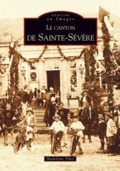Le canton de Sainte-Sévère - Couverture - Format classique