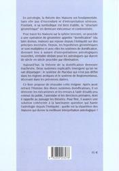 La Geometrie Des Maisons Astrologiques - 4ème de couverture - Format classique