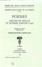 Poesies: Amours De Phyllis Et Diverses Amours (1590) - Couverture - Format classique