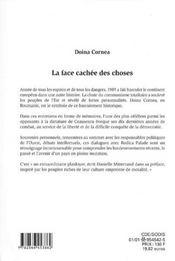 La Face Cachee Des Choses 1990-1999 ; Entretiens Avec Rodica Palade - 4ème de couverture - Format classique