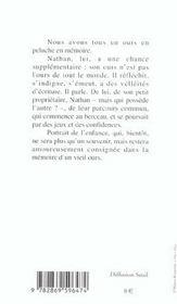 Memoires D'Un Ours - 4ème de couverture - Format classique