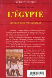 L'Egypte - 4ème de couverture - Format classique