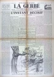 Gerbe (La) N°17 du 31/10/1940 - Couverture - Format classique
