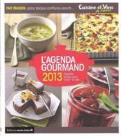 Agenda gourmand 2013 - Couverture - Format classique
