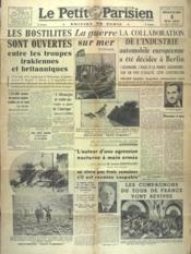 Petit Parisien Edition De Paris (Le) du 04/05/1941 - Couverture - Format classique
