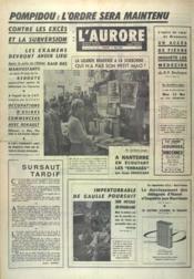 Aurore (L') N°7374 du 17/05/1968 - Couverture - Format classique