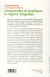 Comprendre et pratiquer le régime Seignalet - 4ème de couverture - Format classique