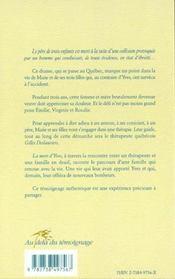 Rencontre Entre Un Therapeute Et Une Famille En Deuil - 4ème de couverture - Format classique
