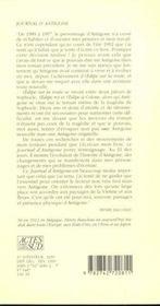 Journal D'Antigone 1989-1997 - 4ème de couverture - Format classique