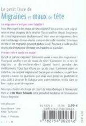 Le Petit Livre ; Migraines Et Maux De Tête - 4ème de couverture - Format classique