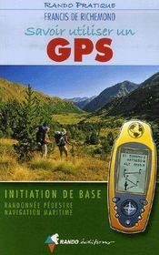 Savoir utiliser un gps en randonnée et en mer - Intérieur - Format classique