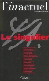 Le Revue L'Inactuel 10 - Singulier - Intérieur - Format classique