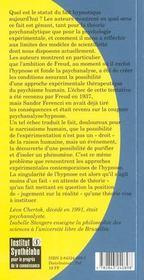 L'Hypnose, Blessure Narcissique - 4ème de couverture - Format classique