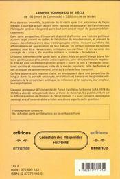 L'empire romain du iiieme siecle - 4ème de couverture - Format classique