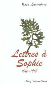 Lettres A Sophie - Intérieur - Format classique
