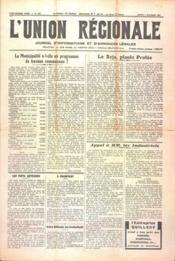 Union Regionale (L') N°1157 du 02/11/1940 - Couverture - Format classique