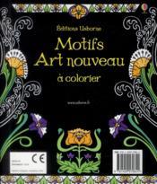 Motifs art nouveau à colorier - 4ème de couverture - Format classique