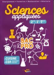 Sciences appliqu es bac pro cuisine et csr 2nde 1 re for Sciences appliquees cap cuisine