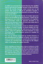 Les Marches Financiers En Fiches Ecoles De Commerce Iep 1er Et 2e Cycles Universitaires - 4ème de couverture - Format classique