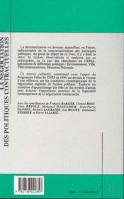 La Negociation Des Politiques Contractuelles - 4ème de couverture - Format classique