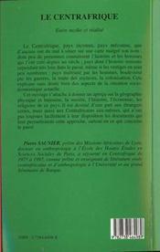 Le Centrafrique ; entre mythe et realité - 4ème de couverture - Format classique